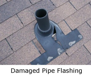 Pipe flashing in need of replacement
